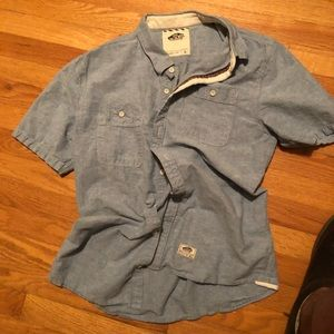 Vans SS Button Shirt • Chambray • Large • COOL 😎